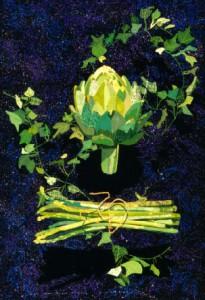Artichoke, Asparagus with a Slide of Ivy - Katiepm